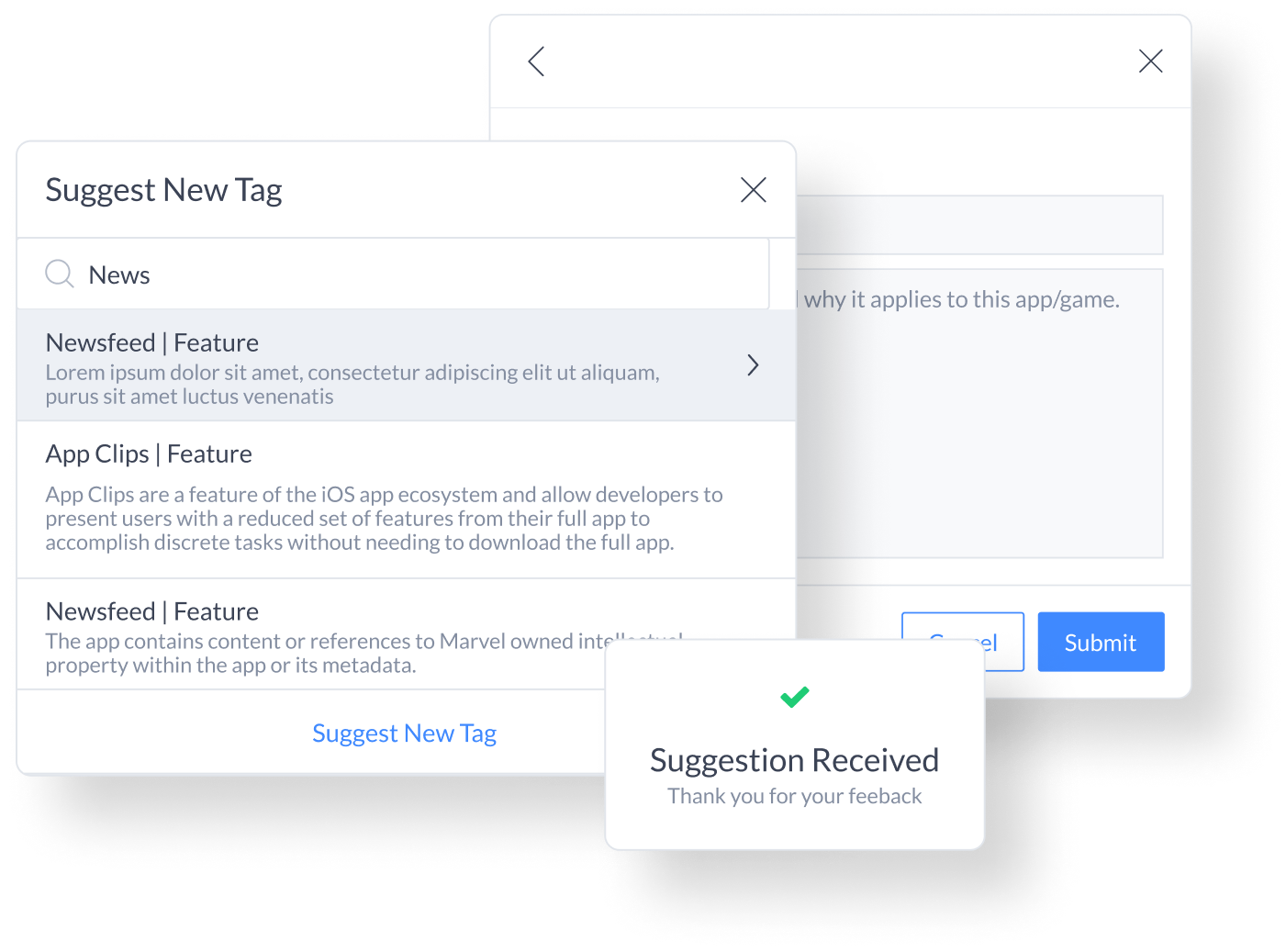 create a completely custom experience by suggesting new tags